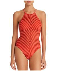 Robin Piccone - Carly High Neck One Piece Swimsuit - Lyst