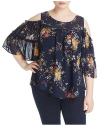 Lucky Brand - Cold Shoulder Ruffle Top - Lyst