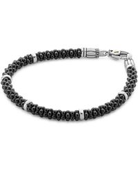 Lagos - Black Caviar Ceramic Sterling Silver And 18k Gold Bracelet - Lyst