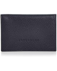 Longchamp - Flap-closure Leather Card Case - Lyst