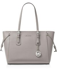 MICHAEL Michael Kors - Voyager Multi - Function Top Zip Medium Leather Tote - Lyst