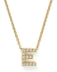Roberto Coin - Tiny Treasures Diamond & 18k White Gold Love Letter Pendant Necklace - Lyst