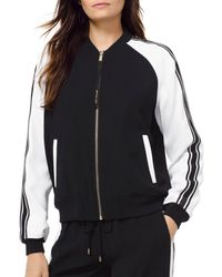 MICHAEL Michael Kors - Striped Sleeve Bomber Jacket - Lyst