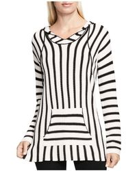 Two By Vince Camuto - Stripe Knit Hoodie - Lyst