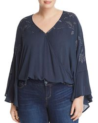 Lucky Brand - Embroidered Flare-sleeve Top - Lyst