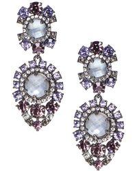 Marchesa - Statement Double Drop Earrings - Lyst