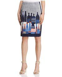 NIC+ZOE - Bottle Print Skirt - Lyst