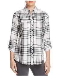 Foxcroft - Addison Plaid Button-down Shirt - Lyst