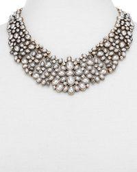 BaubleBar Kew Collar Statement Necklace - Metallic