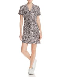 French Connection - Aubi Ditsy Crepe Printed Mini Dress - Lyst
