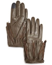 Rebecca Minkoff - Leather Fringe Tech Gloves - Lyst