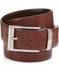 Canali - Reversible Braided Leather Belt - Lyst