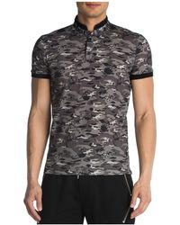 The Kooples - Pique & Army Print Regular Fit Polo - Lyst