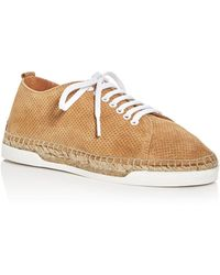 Andre Assous - Shawn Perforated Espadrille Lace Up Trainers - Lyst