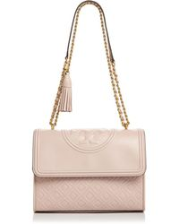 646c8ee24899 Tory Burch - Fleming Convertible Leather Shoulder Bag - Lyst