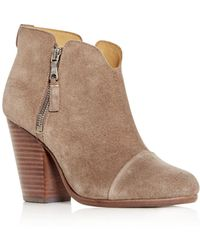 Rag & Bone - Women's Margot Suede High Block - Heel Booties - Lyst