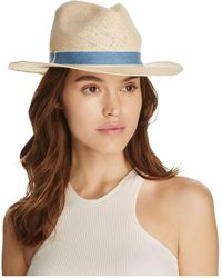 Bloomingdale's - Fedora With Chambray Trim - Lyst