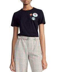 Maje - Thimothe Embroidered Patches Tee - Lyst
