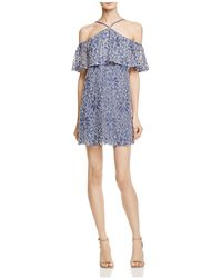 Lush - Lace Cold Shoulder Dress - Lyst
