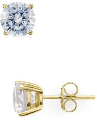 Aqua - Stud Earrings - Lyst