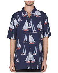 Barney Cools - Yacht Club Regular Fit Button-down Shirt - Lyst