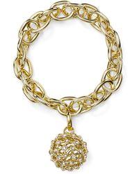 R.j. Graziano - Chain & Pavé Ball Stretch Bracelet - Lyst
