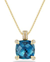 David Yurman - Châtelaine Pendant Necklace With Gemstone And Diamonds In 18k Gold - Lyst