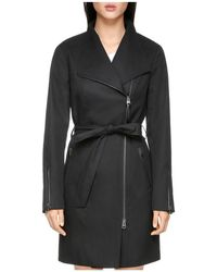 Mackage - Estela Leather Trimmed Trench Coat - Lyst