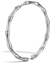 John Hardy - Bamboo Silver Slim Flex Bracelet - Lyst