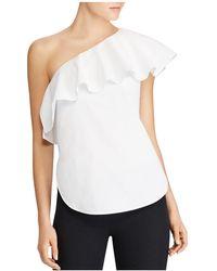 Ralph Lauren | Lauren Ruffled One-shoulder Top | Lyst