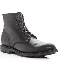 Frye Men's Bowery Pebbled Leather Boots ZaKUM1ZOU