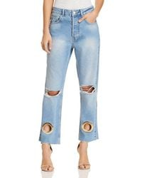 Anine Bing - Giovanna Straight Jeans In Blue - Lyst