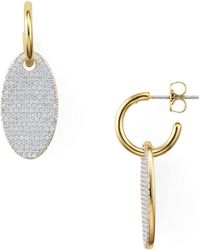 Nadri - Movement Pavé Oval Drop Earrings - Lyst