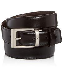 Montblanc - Palladium Square Buckle Reversible Leather Belt - Lyst