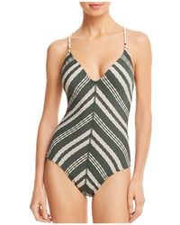 Robin Piccone - Livvy V-neck One Piece Swimsuit - Lyst