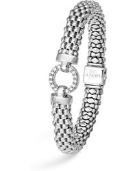 Lagos - Sterling Silver Enso Rope Bracelet With Diamonds - Lyst