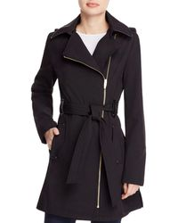 Via Spiga - Asymmetric Front Belted Trench Coat - Lyst