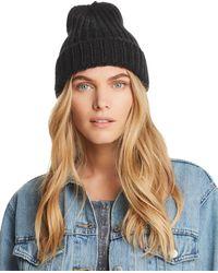Aqua - Chunky Knit Hat - Lyst