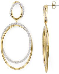 Nadri - Pavé Large Drop Hoop Earrings - Lyst