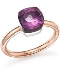 Pomellato - Nudo Mini Ring With Faceted Amethyst In 18k Rose And White Gold - Lyst