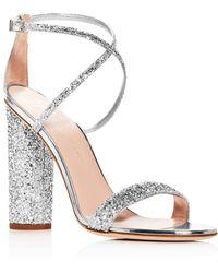 d58cc314226 Giuseppe Zanotti - Women s Svamp Glitter Crisscross High-heel Sandals - Lyst