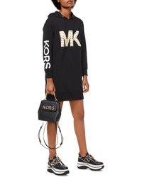 bc0f7d952a6c7f MICHAEL Michael Kors - Studded Logo Sweatshirt Dress - Lyst