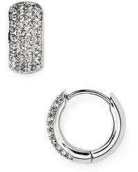 Nadri - Pavé Hoop Earrings - Lyst