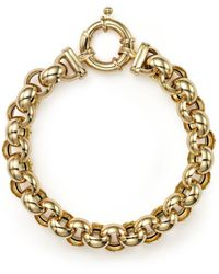 Bloomingdale's - 14k Yellow Gold Medium Rolo Bracelet - Lyst