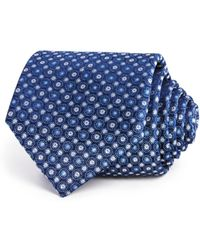 Bloomingdale's - Textured Medallion Circles Classic Tie - Lyst