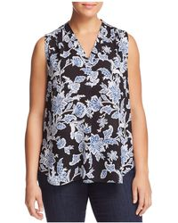 Vince Camuto Signature - Woodblock-print Top - Lyst