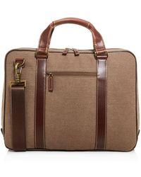 Boconi - Bryant Lte Zipster Canvas Briefcase - Lyst