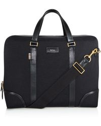Paul Smith - Canvas And Leather Detail Briefcase - Lyst