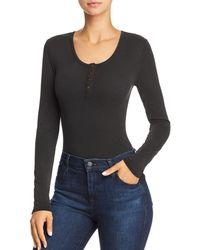 Honey Punch - Rib-knit Bodysuit - Lyst