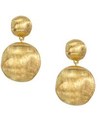 "Marco Bicego - ""africa Collection"" 18k Yellow Gold Bead Drop Earrings - Lyst"